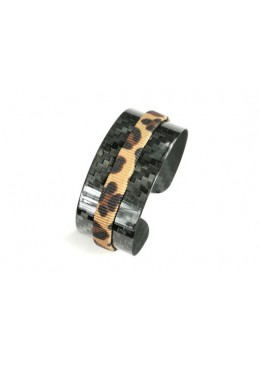 Bracciale carbonio Ring Leopard Wide
